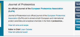 "Journal of Proteomics announces new ""Readers Wives"" section"