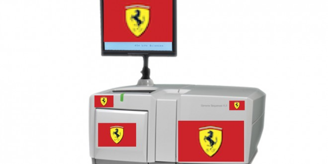 A real model of the proposed Ferrari Genome Sequencer